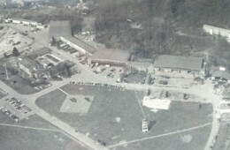 The Flugplats at Cooke Barracks with The Glass House on the upper right.
