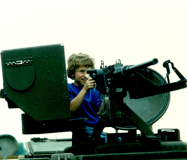 Kids loved the 50 Cal.