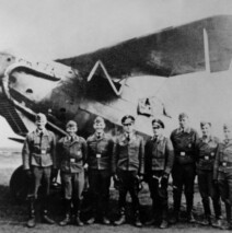 Luftwaffe brass at Fliegerhorst Kaserne during WWII