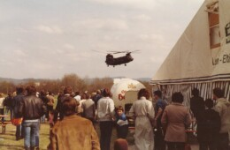 CH-47 Chinook landing at German American Week