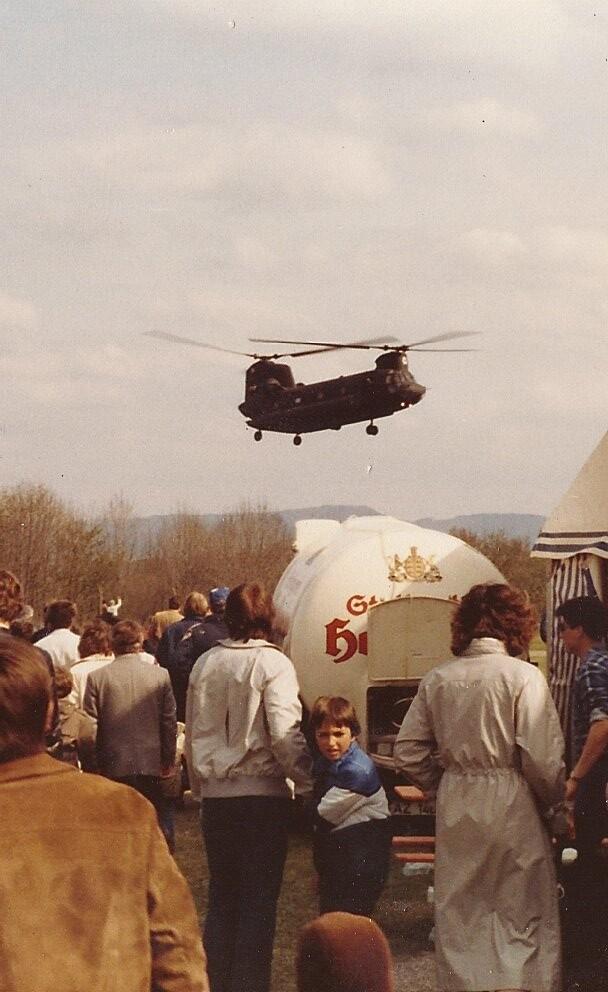 CH-47 Chinook landing at German American Week