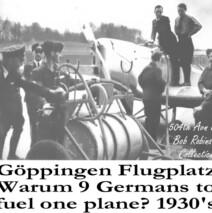 Refueling a Luftwaffe Plane at the Fliegerhorst Kaserne